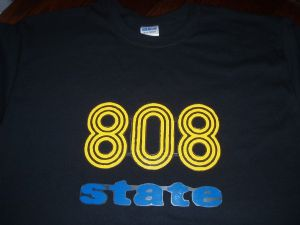 MENS RETRO RAVE `808 STATE` T-SHIRT